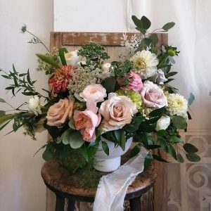 Garden Style Arrangement in Pastel Tones