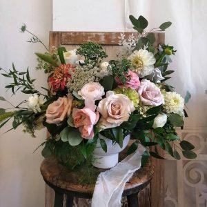 Garden Style Arrangement in Pastel Tones