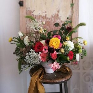 Garden Style Arrangement in Vibrant Tones